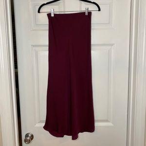 Midi Wine Express Skirt